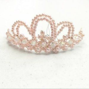 Rose Gold Beaded Bridal Wedding Mini Tiara